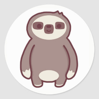The little sloth classic round sticker