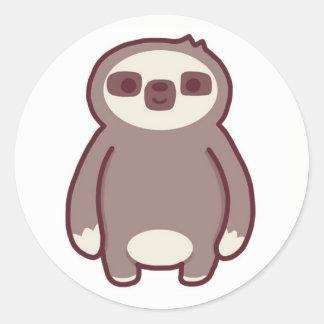 The little sloth round sticker