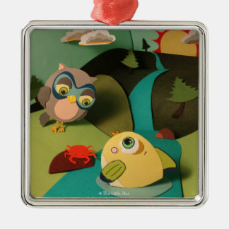 The Little Star Owl & Fish Ornament