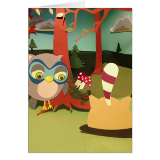 The Little Star Upside Down Raccoon Card
