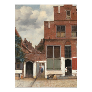 "The Little Street by Johannes Vermeer 6.5"" X 8.75"" Invitation Card"