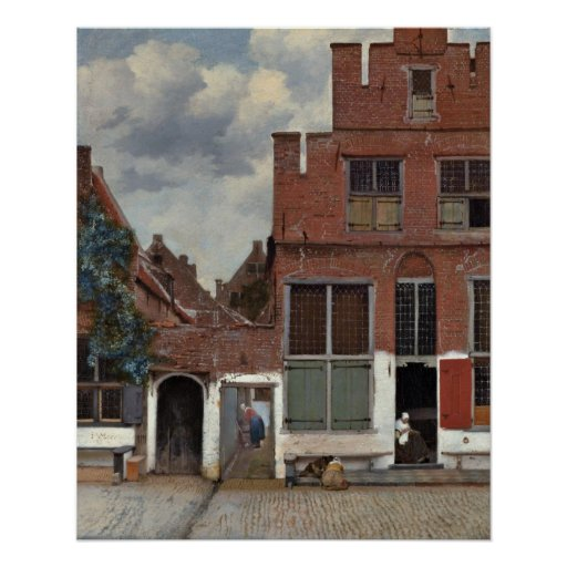 The little street by Johannes Vermeer Posters