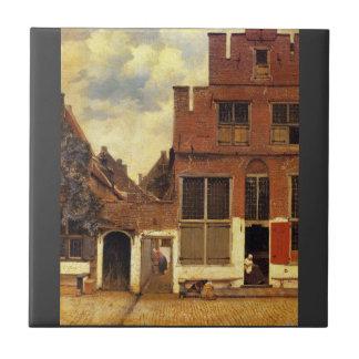 The little street by Johannes Vermeer Tile