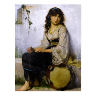 The Little Tambourine Girl ~ Postcard