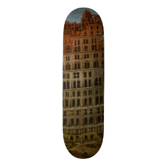 The Little Tower of Babel by Pieter Bruegel 19.7 Cm Skateboard Deck