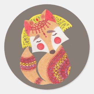 The Little Wolf Round Sticker