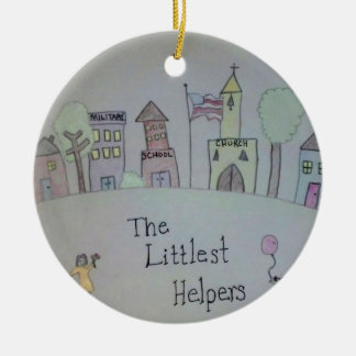 The Littlest Helpers is going Viral! Round Ceramic Decoration