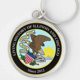 The Living History of Illinois and Chicago Group Keychains