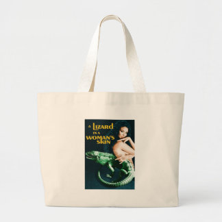 The Lizard in the Woman's Skin, vintage horror Large Tote Bag