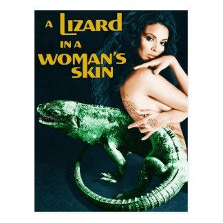 The Lizard in the Woman's Skin, vintage horror Postcard