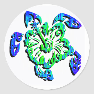 THE LOGGERHEAD TURTLE CLASSIC ROUND STICKER