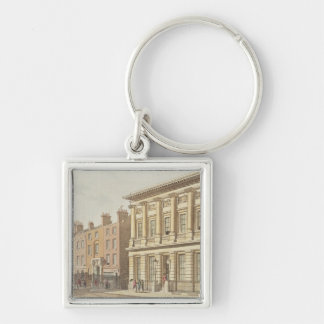 The London Commercial Sale Rooms Silver-Colored Square Key Ring