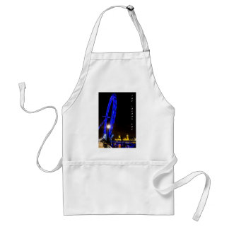 The London Eye At Night Adult Apron