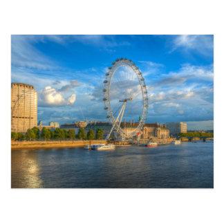The London Eye casts a shadow Postcard