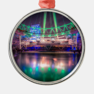 The London Eye on St. Patrick's Day Silver-Colored Round Decoration