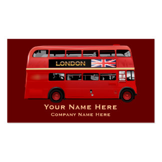 The London Red Bus Pack Of Standard Business Cards