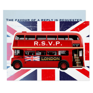 The London Red Bus - RSVP Cards