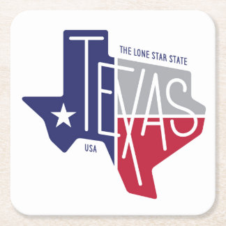 The Lone Star State Square Paper Coaster