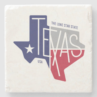 The Lone Star State Stone Beverage Coaster
