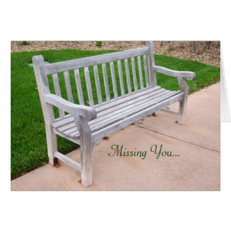 The Lonely Bench Card