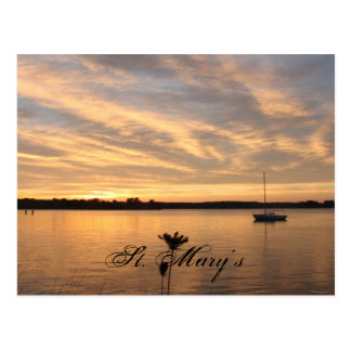 The  Lonely Boat, St. Mary's Postcard