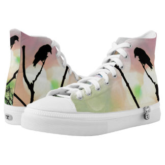 The Lonely Crow Hightop ZIPZ Printed Shoes