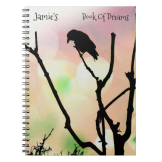 The Lonely Crow *personalize* Spiral Notebook