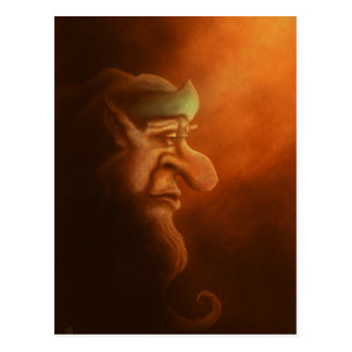 the lonely gnome fantasy art postcard