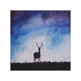 The lonely Stag Canvas Print