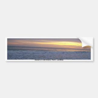 The Long Beach Sunset Car Bumper Sticker