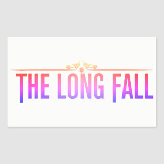 The Long Fall (Logo in Pink) Rectangular Sticker