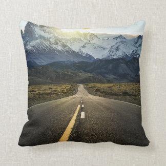 The Long Road To Fitzroy Mountain - Ruta 40 Cushion