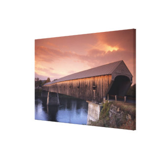 The longest covered bridge in the United States Stretched Canvas Print