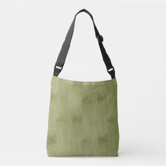 The Look of Bamboo in Olive Moss Green Wood Grain Crossbody Bag
