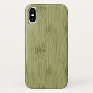 The Look of Bamboo in Olive Moss Green Wood Grain iPhone X Case