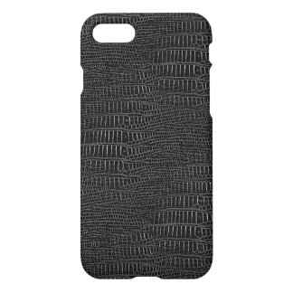 The Look of Black Realistic Alligator Skin iPhone 7 Case