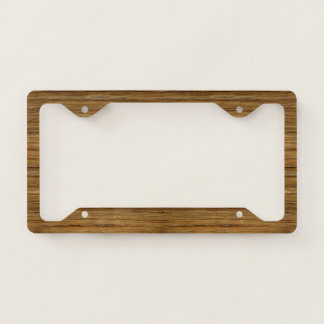 The Look of Driftwood Oak Wood Grain Texture Licence Plate Frame