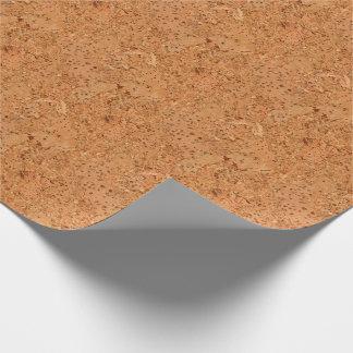 The Look of Macadamia Cork Burl Wood Grain Wrapping Paper