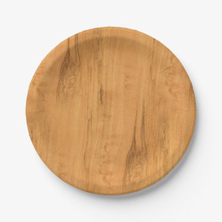 The Look of Maple Wood Grain Texture Paper Plate