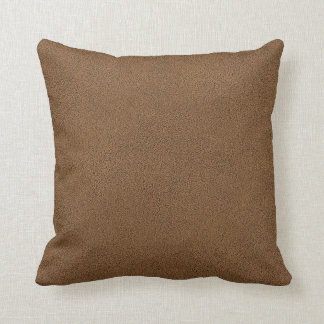 The look of Snuggly Coffee Brown Suede Texture Cushion