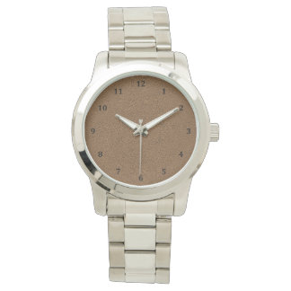 The look of Snuggly Coffee Brown Suede Texture Watches