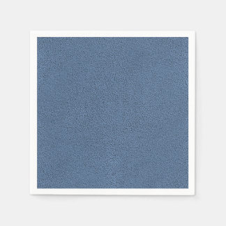 The look of Snuggly Slate Blue Suede Texture Disposable Serviette