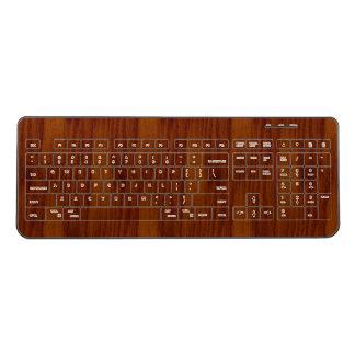 The Look of Warm Oak Wood Grain Texture Wireless Keyboard