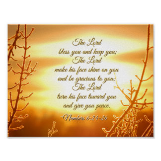The Lord Bless You Numbers 6:24-26 Bible Verse Poster