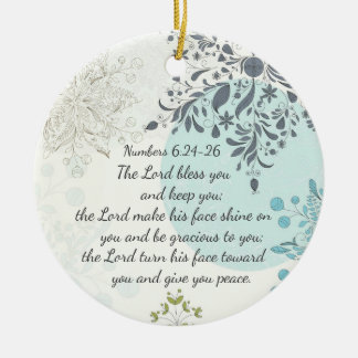 The Lord Bless You, Numbers 6:24, Bible Custom Round Ceramic Decoration