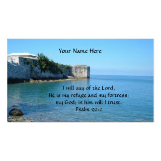 The Lord is my refuge and my fortress Business Card Templates