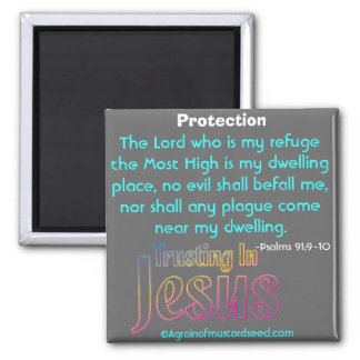 The Lord is my refuge Bible Quotes Magnet