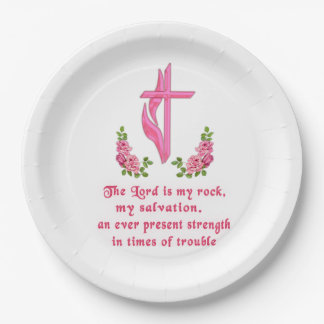 The Lord is my Rock Paper Plate