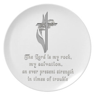 The Lord is my rock Plate