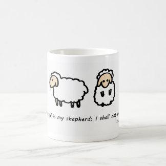 The Lord is My Shepherd Basic White Mug